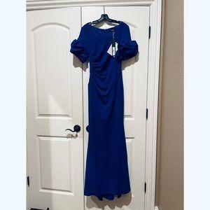 NWT Badgley Mischka Evening Gown Cobalt
